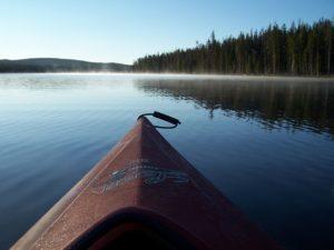 kayak, boat, lake